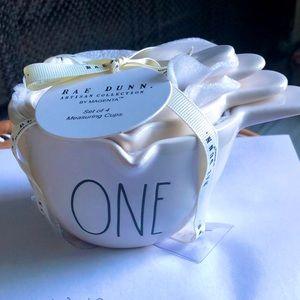 New Rae Dunn white Measuring Cups
